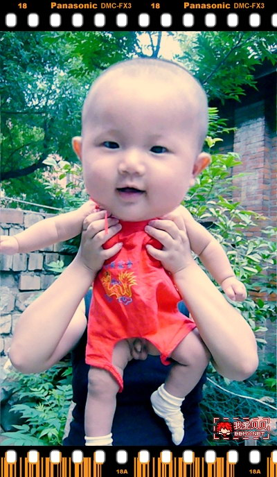 查看金东浩给宝宝PS大头照照片